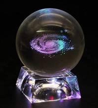 Хрустальный шар для Галактики прозрачная ночная лампа 60 мм/80