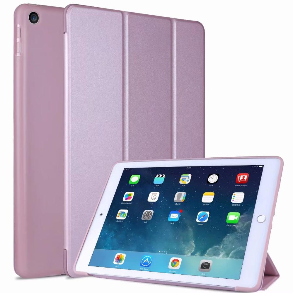 5 Black Tablet Case For IPad 10 2 Cover 2019 For IPad 7 7th Generation Fundas Tri Folding