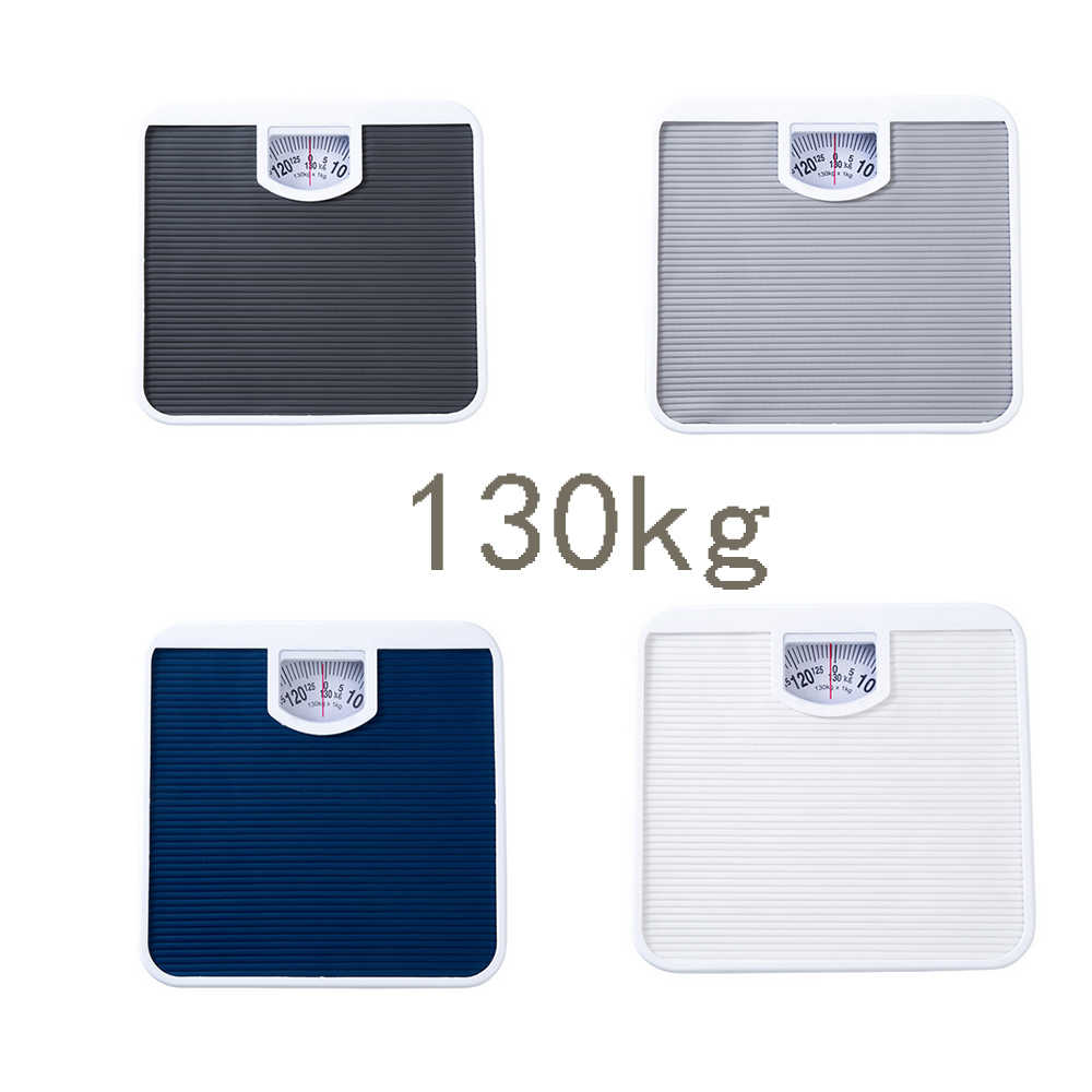 Rectangle Bathroom Analogue Weighing Scale 130 kg Balance Bath Scales Body Fat