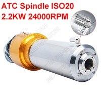 O eixo 3hp iso20 24000 rpm ac220v 800 hz 80mm de 2.2kw atc muda a ferramenta automática do motor do eixo npn pnp para a gravura do roteador cnc