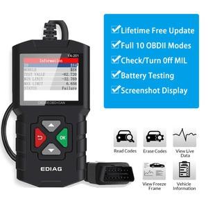 Image 1 - OBDII Scanner lettore di codice strumento di scansione per veicoli Auto Scanner diagnostico per Auto rilevatore di codici di errore del motore per Bmw Ford VW KIA