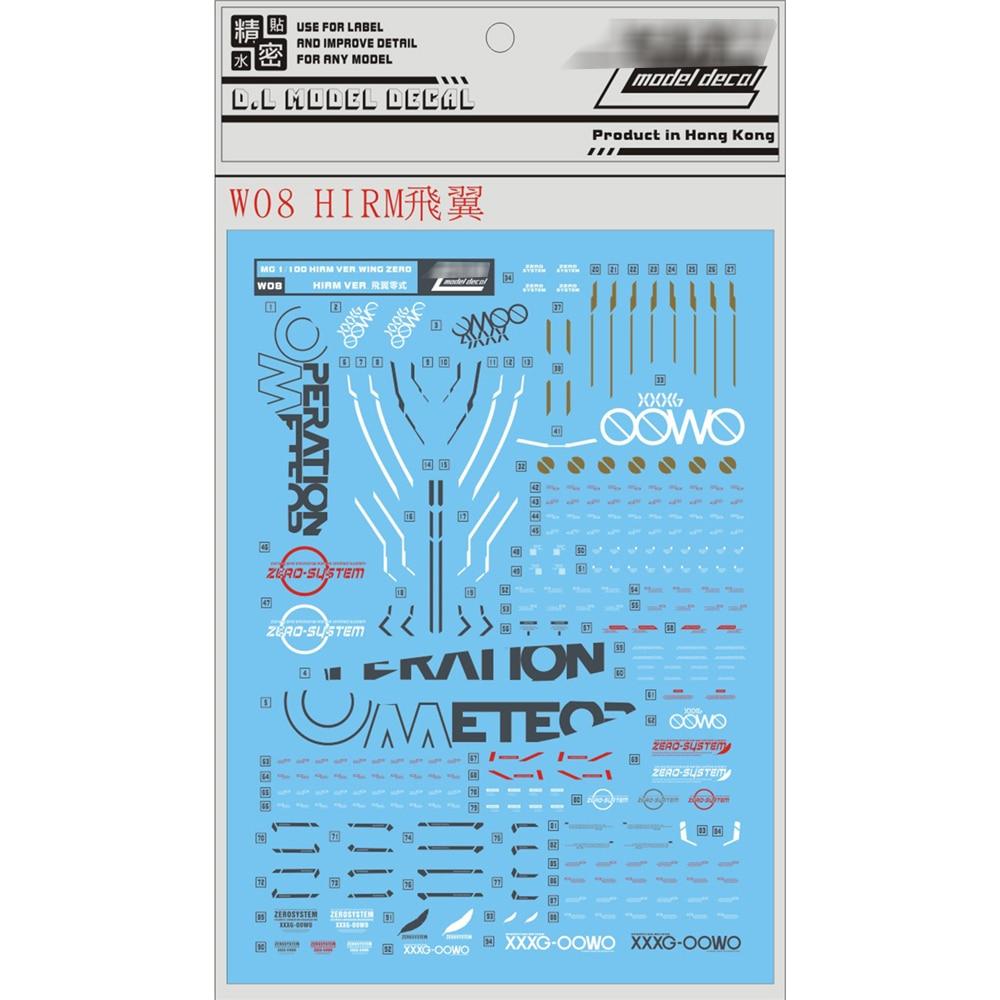 Image 2 - DL Переводные водорастворимые наклейки для Bandai HIRM 1/100 крыло Zero XXXG 00W0 Гандам декоративные наклейкиЗапасные части    АлиЭкспресс