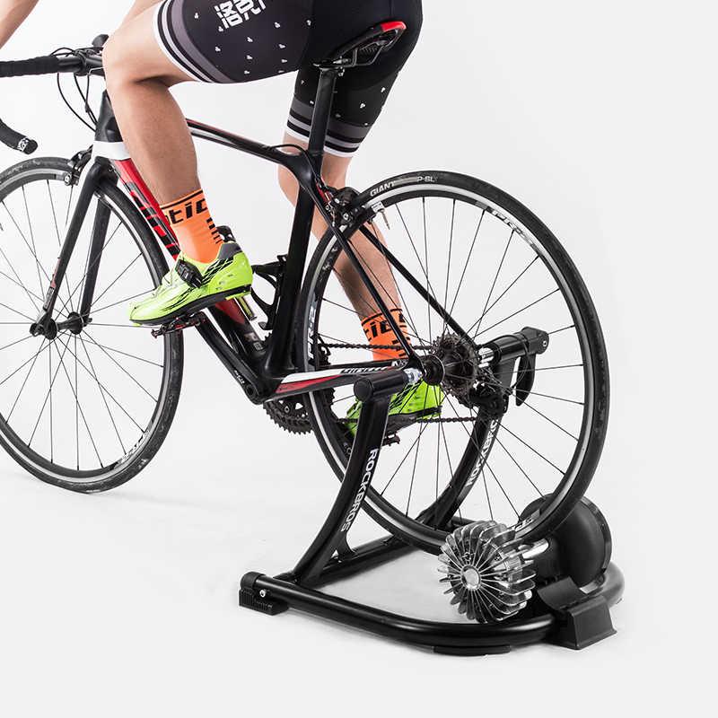 を rockbros 自転車運動サイレント液体抵抗バイクトレーナー mtb ロードバイク屋内フィットネス競争折りたたみトレーニングラック