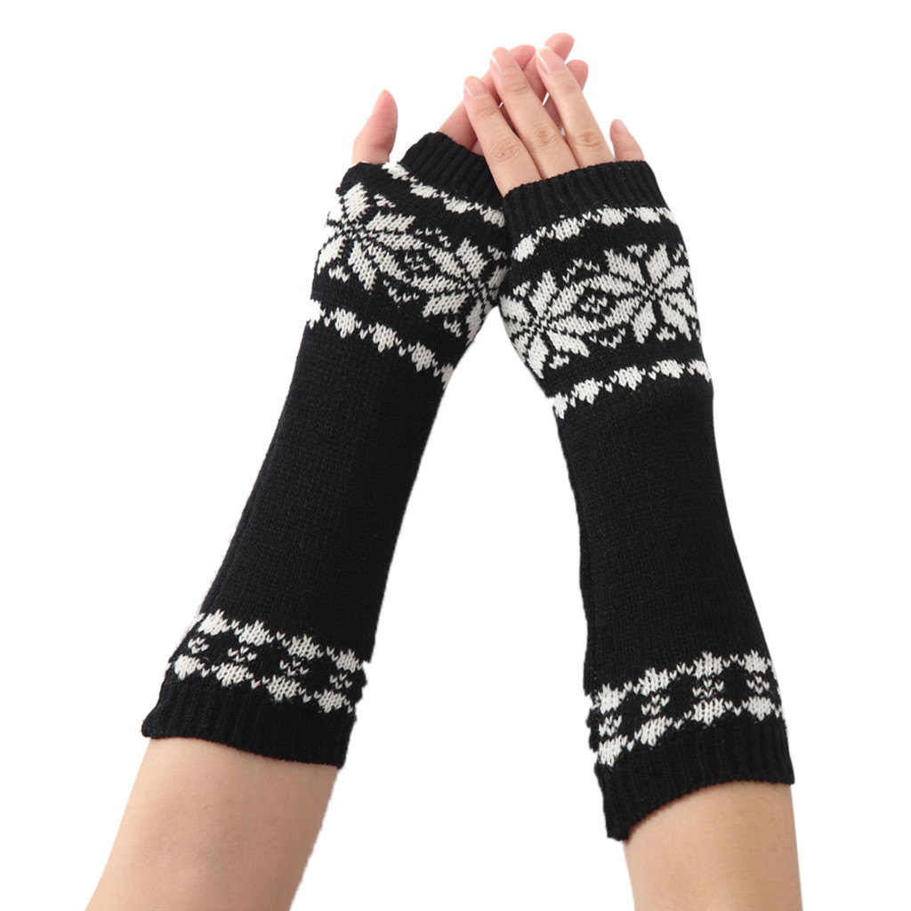 06# Winter Long Section Of Wool Fingerless Gloves Hot Color Can Be Customized Authentic R Knitted Long Fingerless Gloves Mitten
