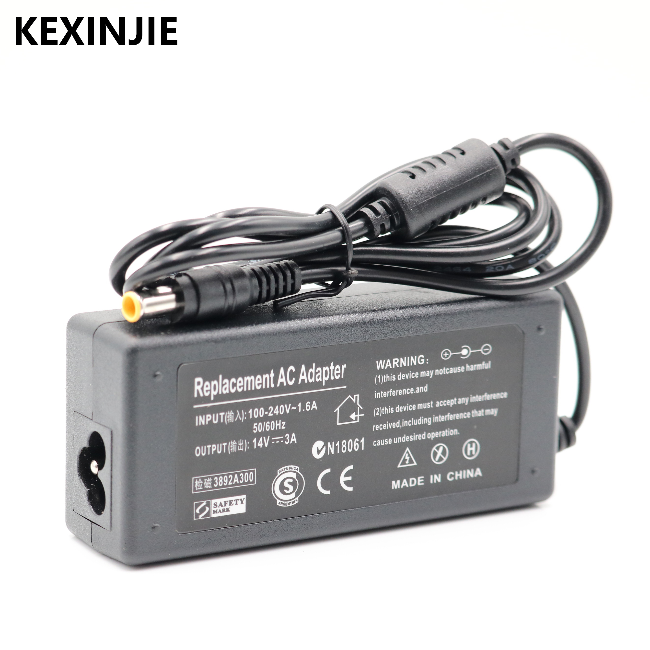 Free Shipping NEW 1PCS AC 100-240V DC 14V 3A AC Adapter Power For SAMSUNG Monitor AP04214-UV AD-4214L Power Supply Adapter
