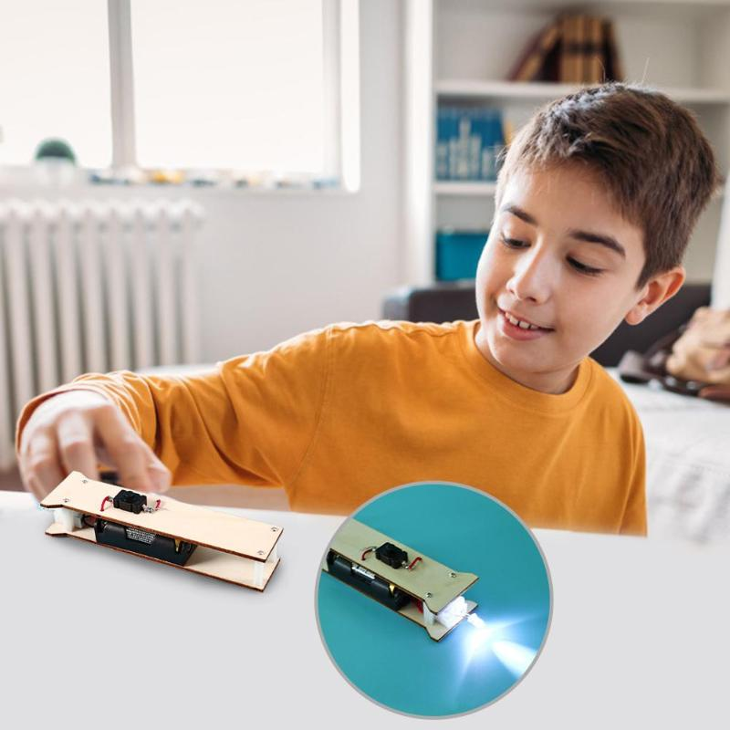DIY Flashlight Physics Toys Kit Exercise Hands-on Ability Added Interest Kids Assemble Educational Science Project Craft