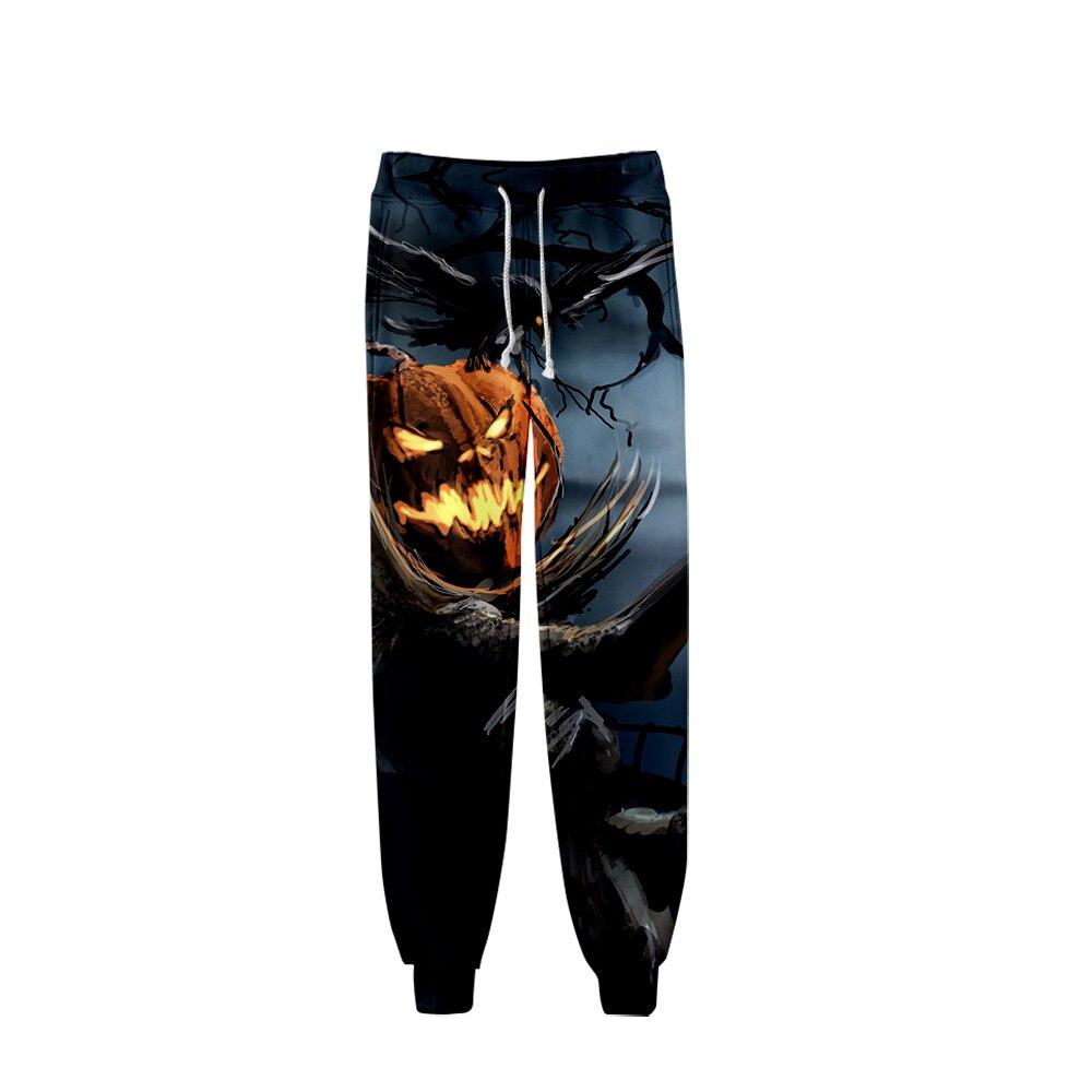 Halloween Jack Pumpkin Light 3D Pants High Quality Sports Pants Trousers Fashion Popular Trend Comfortable Casual Pants