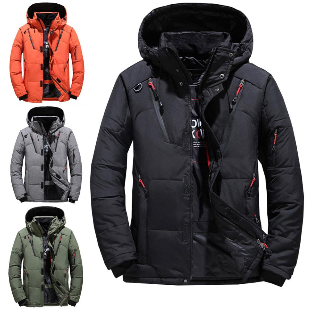 High Quality Thick Warm Winter Jacket Men Hooded Thicken Duck Down Parka Coat Casual  Down Men Coat