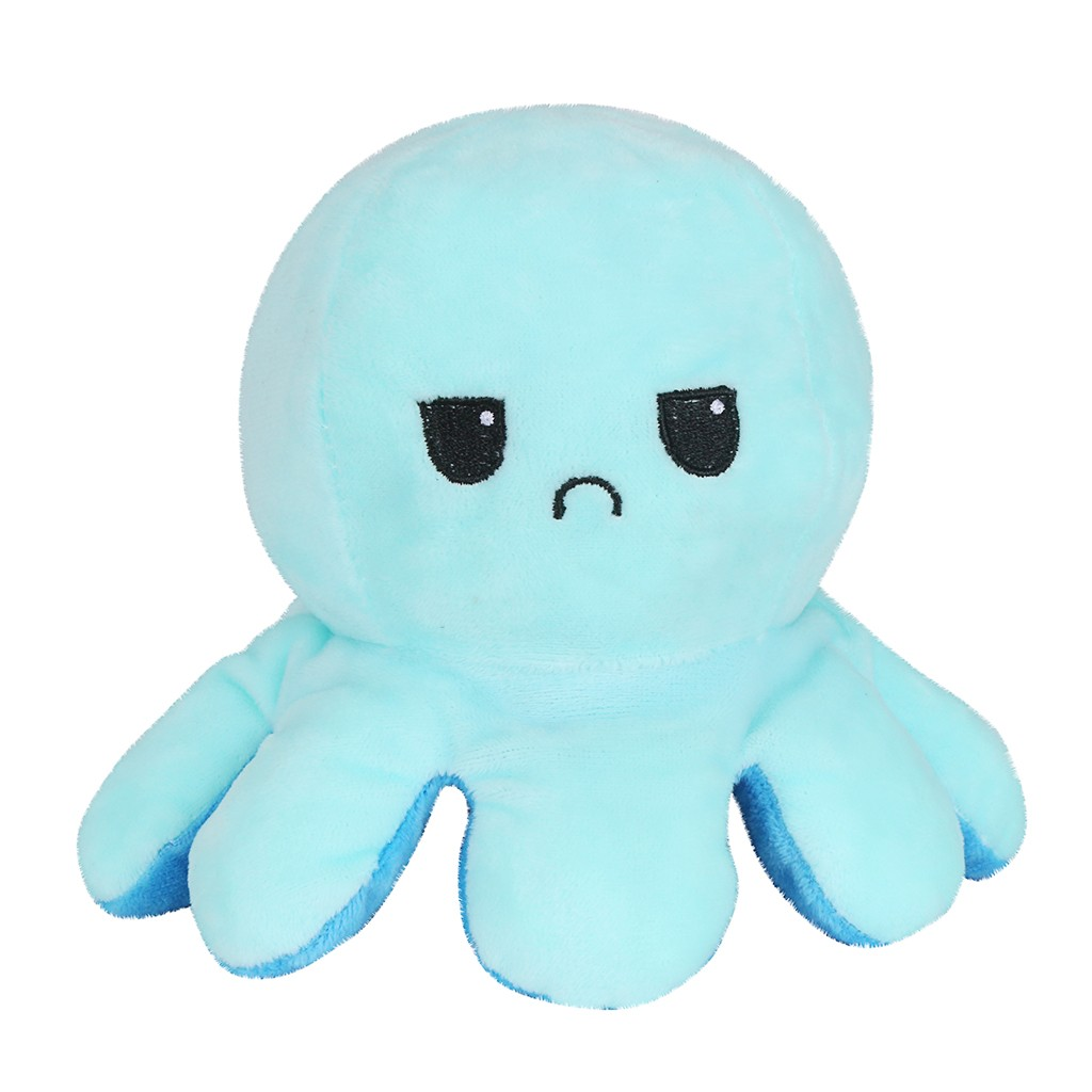 Moodipus Cuddly Reversible Happy or Sad Cuddly Octopus