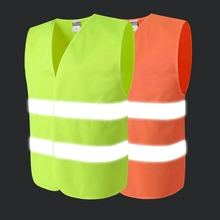 Outdoor Night Jacket Reflective Vest High Visibility Breathable Safety Gear For Riding Running Hiking Protector Tank Top