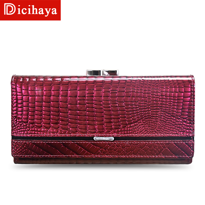 DICIHAYA Wallet Wallets Women 2019 New Fashion Women Genuine Leather Lady Long Walets For Organizer Coin Purse Clutch Phone Bag