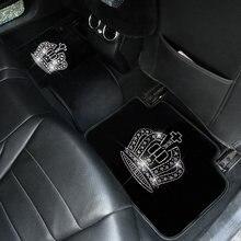 Алмазный автомобильных ковриков для женщин блестящие стразы