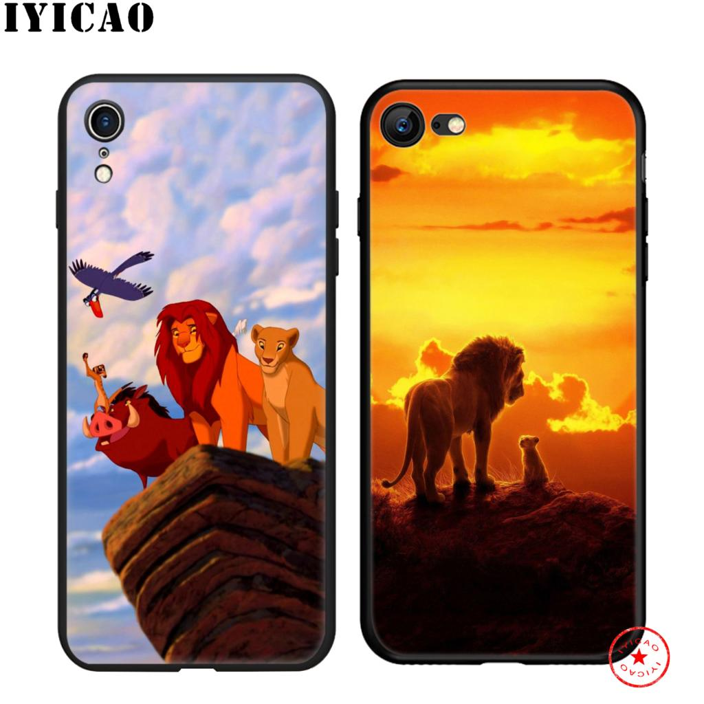 IYICAO The Lion King Soft Black Silicone Case for iPhone 11 Pro Xr Xs Max X or 10 8 7 6 6S Plus 5 5S SE in Fitted Cases from Cellphones Telecommunications