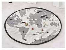 135cm tappeti morbidi per bambini tappeti mappa del mondo tappetini da gioco per bambini coperta strisciante per bambini tappeto giocattoli borsa per la conservazione decorazione della camera dei bambini