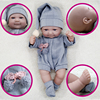 Adorable 11Inch Reborn Doll Bebe Soft Silicone Fashion DIY Kit Santa Claus Outfit Grey Eyes Toddler Girls For New Born Baby