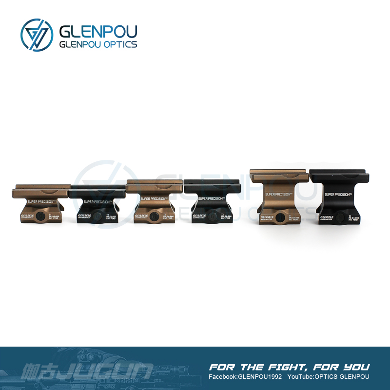 GLENPOU Almpolnt T1& T2 &JUGUN1 Tactical with Gelssele Super Preclsion Series Scope Mount Airsoft & Hunting scope