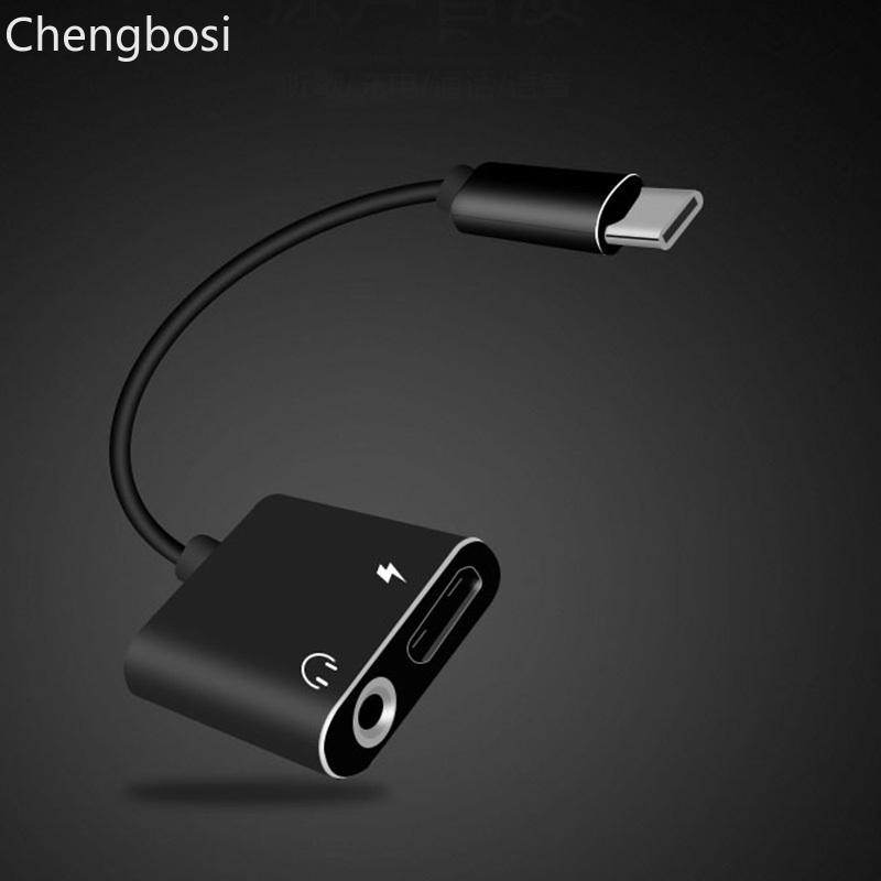 Usb Type C Adapter Charger Audio Cable 2 In 1 Type-C To 3.5mm Jack Headphone Aux Converter For Samsung For Xiaomi For Huawei