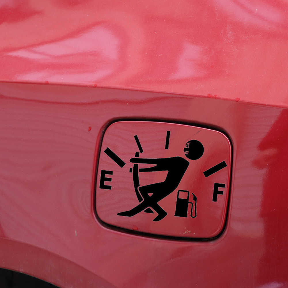 1 個おかしい車ステッカープル燃料タンクカバーポインター反射車のビニールデカールステッカー卸売カーアクセサリー新到着