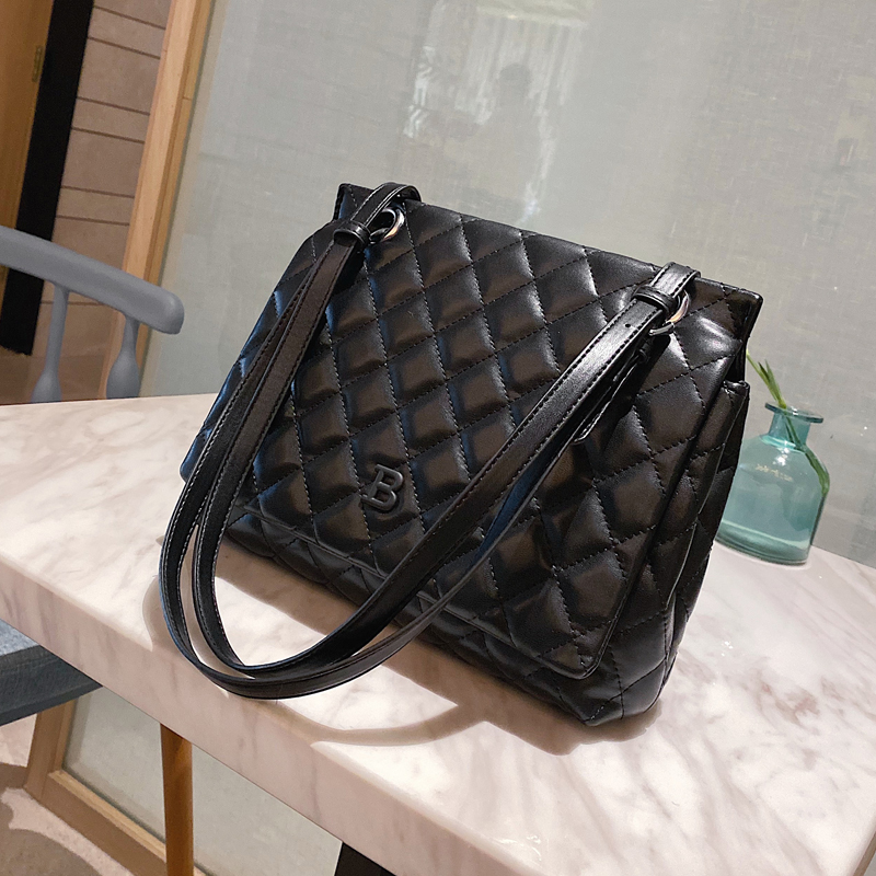Net Red Diamond Grid Bag Women 2020 Autumn Winter New Tide Korean Version Texture Shoulder Bag Atmospheric Fashion Women's Bag