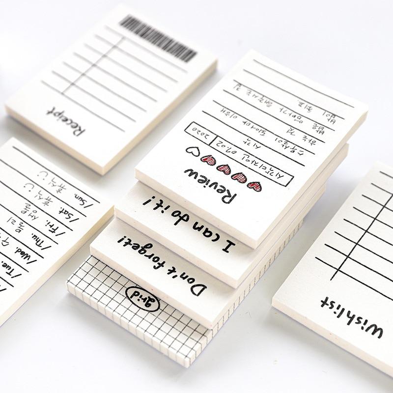 50 листов/пакет маленький, чтобы сделать список липких заметок и планировщик с контрольным списком канцелярских принадлежностей канцелярск...