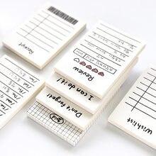 50 folhas/bloco pequeno para fazer lista notas pegajosas e planejador com lista de verificação artigos de papelaria artigos de escritório almofada de memorando pegajoso