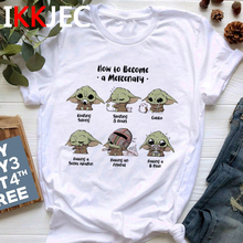 The Mandalorian Cartoon Baby Yoda T-shirt Graphic Top SF