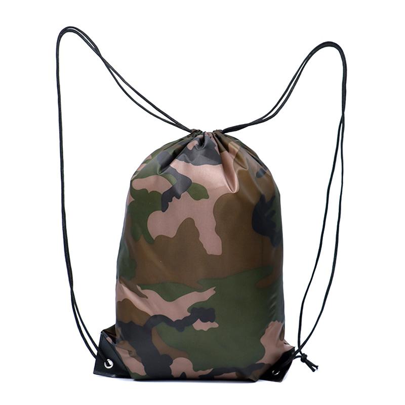 Camouflage Backpack Drawstring Gym Bag Travel Sport Outdoor Bag Lightweight ASD88