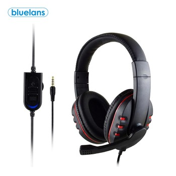 3.5mm Adjustable Stereo Wired Gaming Headset Earphone Low Bass Stereo HD Microphone Headphone for Xbox-ONE for PS4 oyk ok 8808 3 5mm wired stereo headband headphone w microphone white
