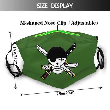 Mascarilla de la bandera de Zoro One Piece Mascarillas de Anime Mascarillas de One piece Merchandising de One Piece