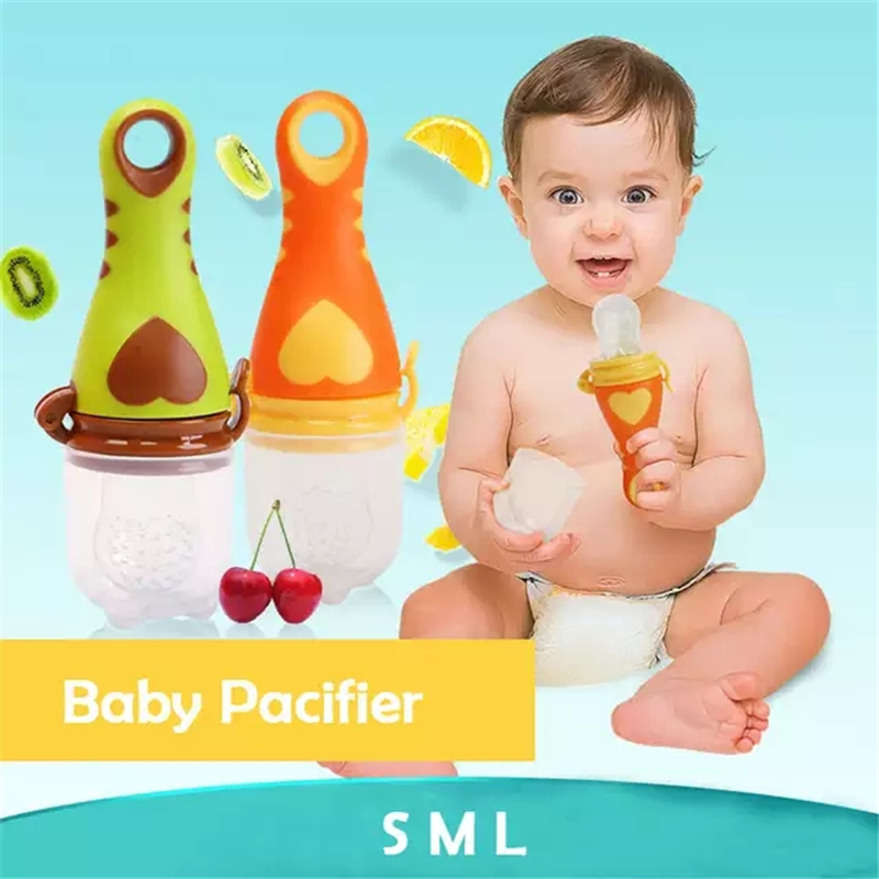 1Pcs Fresh Food Baby Pacifiers Heart-shaped Fruit Feeder Nipples Feeding Safe Baby Supplies Nipple Teat Pacifier Bottles Nibbler