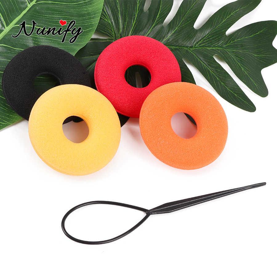 Nunify 2 Pcs/Banyak Alat Styling Rambut Styling Topsy Ekor Rambut Mesin Klip untuk Rambut Atlet Curling Putra Rambut Aksesori untuk