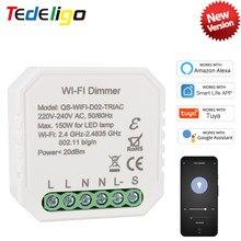 WiFi Tuya Smart Dimmer Switch 1Gang LED Breaker Module Wireless Voice Remote Control Timer Compatible Alexa Echo Google Home