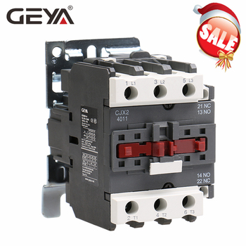 цена на GEYA CJX2-4011 5011 6511 Industrial Magnetic Contactor 3 Phase40A 50A 65A Din Rail Telemecanique Contactor AC 220V or 380V