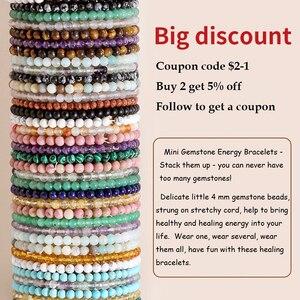 OAIITE 4 мм Мини Энергетические Браслеты из натурального камня, браслет с бусинами для йоги, медитации, мужской и женский браслет, помогает принести здоровье