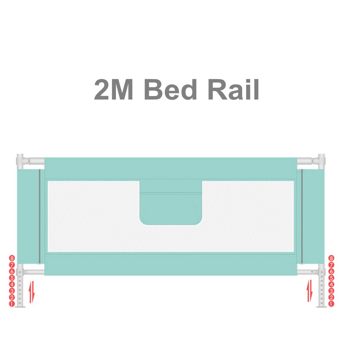 2M Baby Bed Fence for Child Safety used as Baby Gate from Falling Accidentally while Sleeping or Playing 1