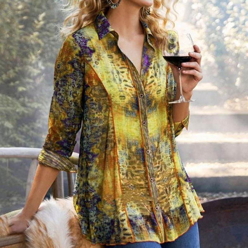 Blouse Women Vintage Long Sleeve Women's Shirt Autumn Fashion Woman Blouses 2020 Casual Turn Down Collor Blouse Ladies Top New