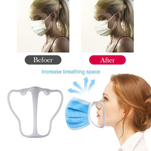 Mask-Holder Mouth-Mask Silicone Support Breathable 3d Valves Inner-Cushion-Bracket Assist