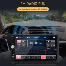 цена на 2 Din Car Multimedia Player Autoradio Stereo 7 Touch Screen FM Radio HD Video Bluetooth MP5 Player Auto Radio Rear View Camera
