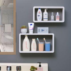 Угловая полка для ванной комнаты, 2-х слойная настенная подвесная Косметическая полка для хранения, органайзер для ванной комнаты, полка для...