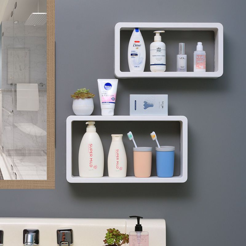 Bathroom Corner Shelf  2 Layer Wall Hanging Vanity Cosmetics Storage Racks Bathroom Organizer  Shower Caddy Rack Shampoo Holder