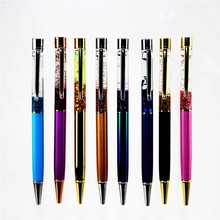 8 Colors Crystal Ballpoint Pen Fashion Fluorescence Stylus Touch Pen For Writing Stationery Office School Black Refill