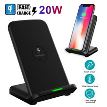 20W Qi Fast Wireless Charger For Samsung S8 S9 Plus Huawei P