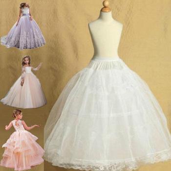 Dziecięce halki dla dziewczynek z kwiatami sukienki małe dziewczynki krynolina 2 spódnica z Hoop spódnica lolita podkoszulek Vestido De Novia tanie i dobre opinie spandex FALBANKI halka Wedding Party Cosplay Birthday Prom Princess Lolita Girl Kids Child
