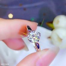 KJJEAXCMY boutique schmuck 18K gold eingelegten Mosang Diamant weibliche ring unterstützung erkennung exquisite