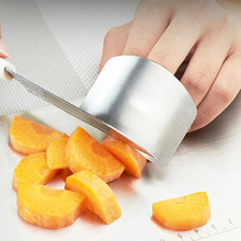 Stainless Steel Kitchen Tool Finger Protection Slice Safety Protection Kitchen Essential Tool Slicing Tool Anti-cut Ring