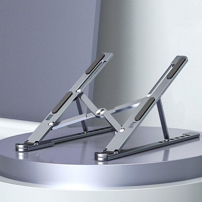 Magnético do Portátil da Absorção para o ar de Macbook Liga de Alumínio Suporte do Portátil Novo Suporte Tablet Notebook Dobrável Pro 9.7-17.3