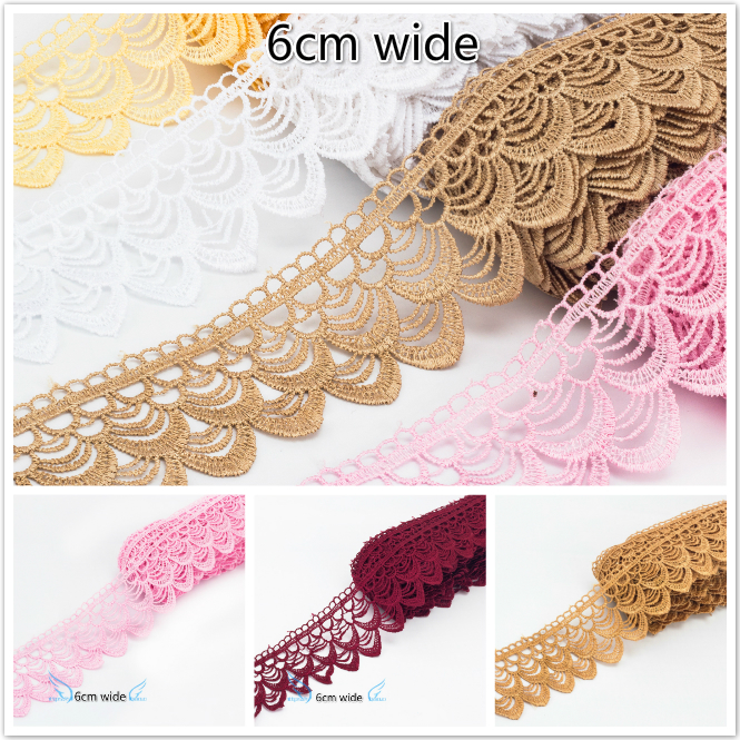 High Quality Delicate Fish Scale Water Soluble Lace Embroidery Ribbon Clothes Skirt Curtains Trim Hat Scarf Sewing Accessories
