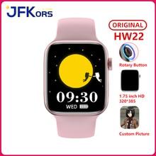 ساعة ذكية 2021 رجال نساء HW22 1.75 بوصة شاشة تشغيل الموسيقى النوم مراقب قفل بكلمة مرور PK iwo 13 amazfit bip u hw12 hw16