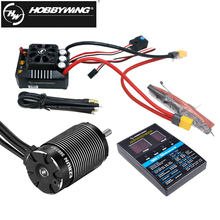HobbyWing EZRUN SL 4985 1650KV/5687 1100KV 4 Pole Sensorless Brushlessมอเตอร์MAX6 160Aกันน้ำESCสำหรับ1/6 1/7 RCรถ