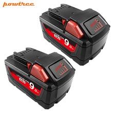 2 шт./упаковка, литий-ионные батареи для Milwaukee M18 48-11-9000 48-11-1815